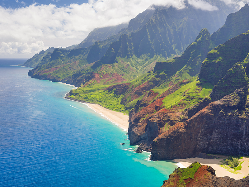 View on Na Pali Cost on Kauai island on Hawaii