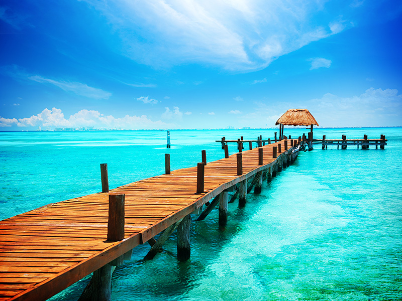 Jetty on Isla Mujeres, Mexico,Cancun