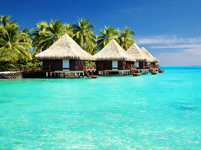 South Pacific Over Water Huts
